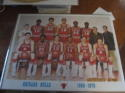 1969 Chicago Bulls Team picture poster 19 x 25