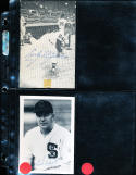Ed Lopat White Sox  Signed 3.5 x 5 photograph (only card listed)