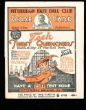 1921 Pittsburgh Pirates vs Philadelphia Phillies baseball program scored