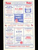 1949 8/4 Cleveland Indians vs Washington baseball program scored  Bob Feller shut out