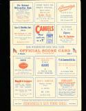 1946 8/23 Washington vs Detroit baseball program scored.