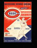 1939 Reds vs New York Yankees baseball Program world series scorecard