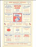 1947 6/29 New York Yankees vs Washington baseball program scored.