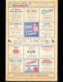 1948 7/18 Cleveland Indians vs Washington baseball program scored Satchel Paige