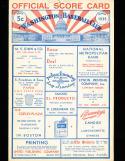 1935 7/16 st. louis Browns vs Washington baseball program scored