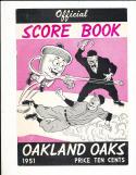 1951 3/24 Oakland Oaks vs New York Yankees Mickey Mantle Spring Training baseball program