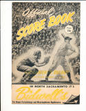 1950 pcl all star game baseball unscored program em