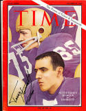 1966 10/28 Time Magazine Signed Terry Hanratty Notre Dame em no label Newsstand
