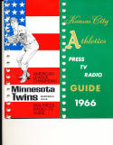 kansas city Athletics 1966 Press TV Media Guide binder edition (only one listed)