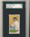 1911 t206 Sweet Caporal Rube Marquard Giants sgc ex 5 nice