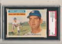 1956 topps Don Larsen signed #332 Yankees Card sgc ball point