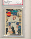 1968 topps 3-d Willie Davis Dodgers PSA 10 gem mint