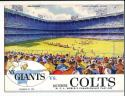 12/28 1958 NFL championship New York Giants vs Baltimore colts Football Program