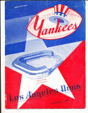 1948 11/7 AAFC los angeles Dons vs New York Yankees Football Program