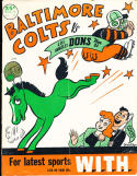 1948 11/21 AAFC los angeles Dons vs Baltimore Colts Football Program