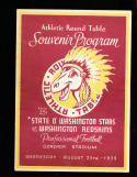 1939 8/23 Washington Redskins vs Washington Gonzaga Stadium Football Program rare program