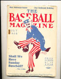 July 1908 Baseball Magazine  3rd issue! ex condition;