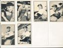 1953 Bowman black & white Chicago Cubs 6 Card set ex-em