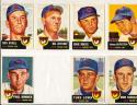 1953 Topps  Chicago Cubs 12 Card set em