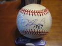 1987 Cleveland Indians Team Signed Baseball 24 signatures