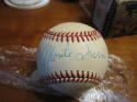 Monte Irvin New York Giants Signed HOF ball baseball HOF