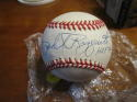Phil Rizzuto Hof 94 Yankees Signed Official MLB Baseball nice white