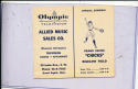 1951 Grand Rapids Chicks  All American Girls Baseball League AAGBL Pocket Schedule