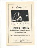 1944 Kenosha Comets vs Minneapolis American Girls Baseball League baseball unscored program em