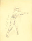 Paul Dean  St. Louis Cardinals (d 1981) Original 1932 art drawing