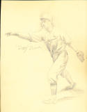 Dizzy Dean  St. Louis Cardinals (d 1974) Original 1932 art drawing