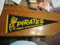 1960 PITTSBURGH PIRATES WORLD SERIES CHAMPIONS FELT PENNANT - VINTAGE - ORIGINAL