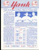 1958 vol 13 #3 Yank New York Yankees Newsletter