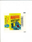 VERY RARE 1964 BUBBLES INC MONSTERS FROM OUTER LIMITS WAX PACK WRAPPER -NICE