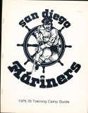 1975 San Diego Mariners Hockey League Training Camp Media guide