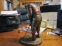 On the green Austin Production Artist De Groot Golfer Statue em