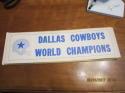 1971 Dallas Cowboys Superbowl World Champions Bumper sticker