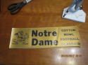 1970's Notre Dame Cotton Bowl Football Bumper sticker