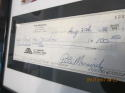 Pete maravich Signed check psa/dna framed