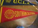 1950's USC red felt soft Pennant em