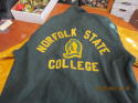 Norfolk State College Varsity Football 1974 75 76 NAIA District Champions Full size Jacket xl