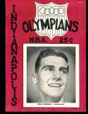 1952 Indianapolis Olympians vs Philadelphia Warriors signed Basketball Programs (9 sig's)