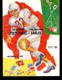 1957 9/22 San Francisco 49ers vs Philadelphia Eagles Signed Program
