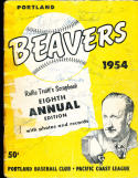 1954 Portland Beavers pcl Signed Yearbook by league 126 signatures!