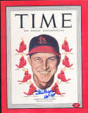 9/5 1949 Stan Musial Time Magazine cover photo Signed COA musial