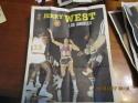 1970 Topps Basketball Poster Set nrmt/mt 23/24 Jerry West, Lew Alcindor, Wilt Chamberlain