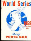 1959 World Series chicago White Sox vs Los Angeles Dodgers scored program