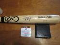 Mike Trout Angels Signed full size Rawling baseball bat COA