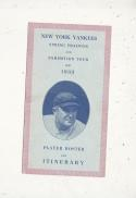 1933 New York Yankees Spring Training Roster Guide Babe Ruth