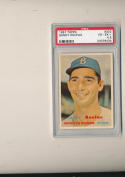 1957 Topps Sandy Koufax Brooklyn Dodgers #302  psa 4.5 vg-ex