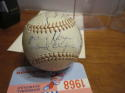 1943 St. Louis Browns Team Signed Baseball 21 signatures Rick Ferrell